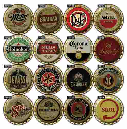 Placas Decorativas Cervejas Bebidas Vintage Bar Retrô 36x36