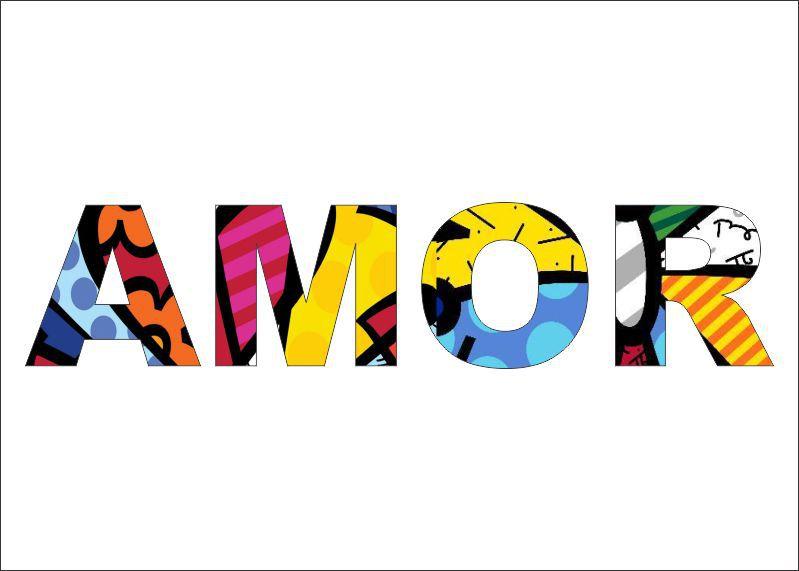 Adesivo Parede Romero Britto Frases Amor