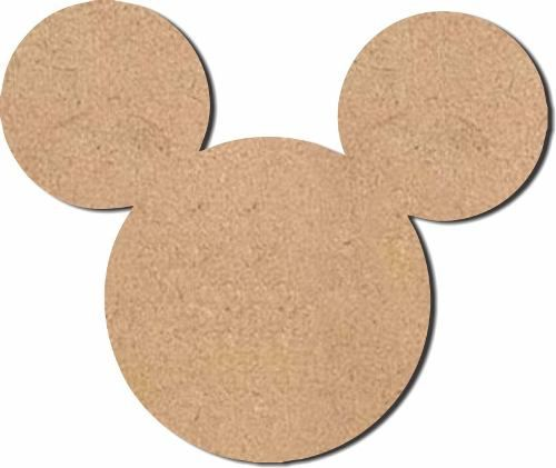 Cara Mickey Mdf Crú 50 Cm Aniversário Decoração Infantil