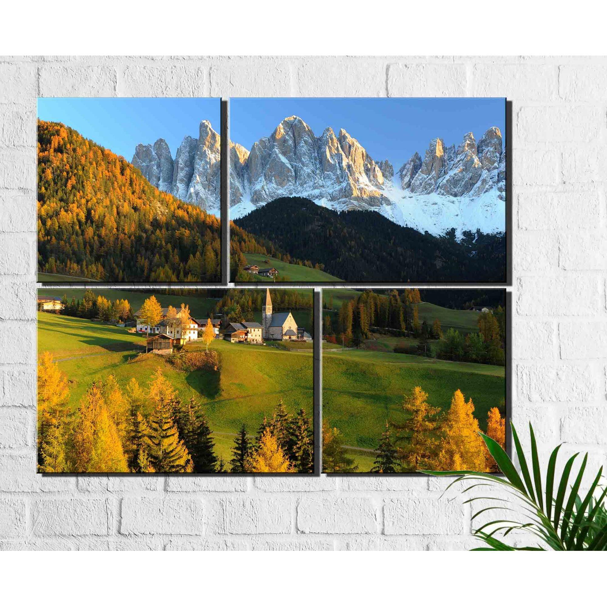 4 Quadros Decorativos Paisagem Montanha