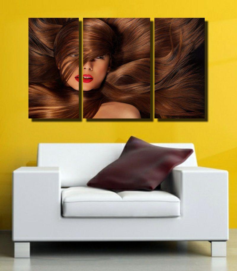 Quadro Decorativo Para Salão De Beleza 3 Peça m4