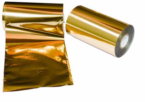Folha De Ouro Transfer Para Artesanato Rollo 122 Metros