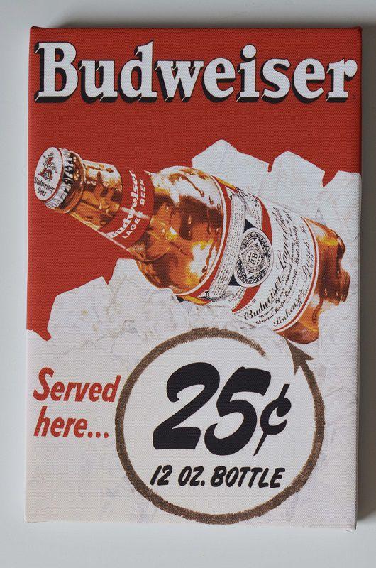 Quadro Budweiser vintage retrô