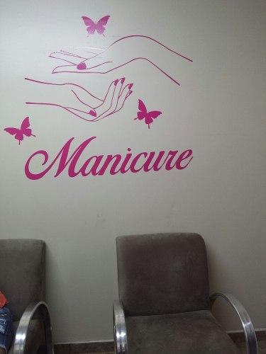 Adesivo Manicure  Salão de Beleza