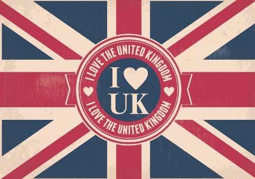 Quadro Decorativo Bandeira Da Inglaterra Com Mensagem