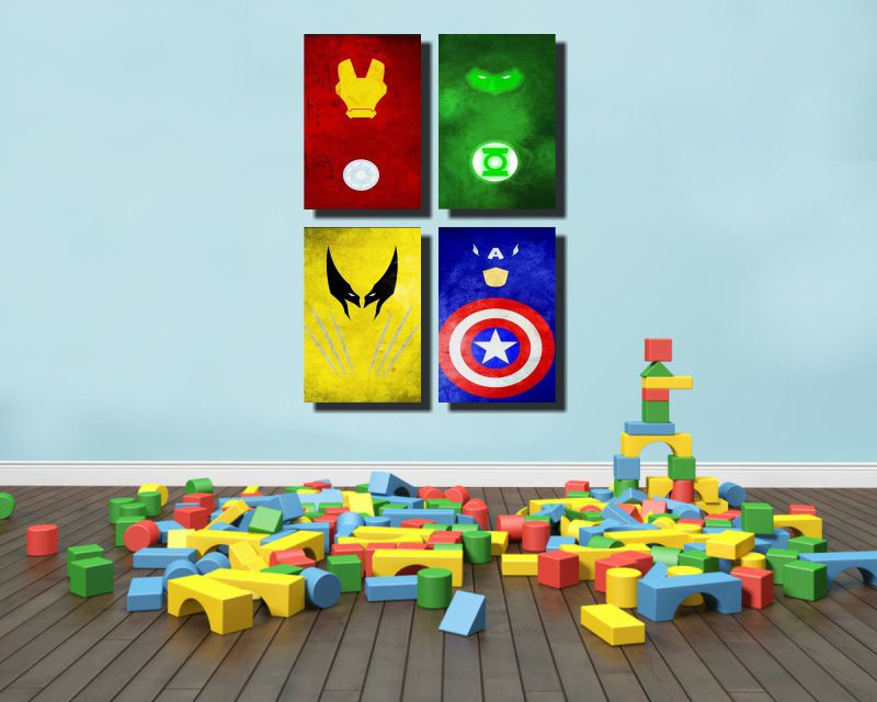 Kit Quadros Super Heroes M2