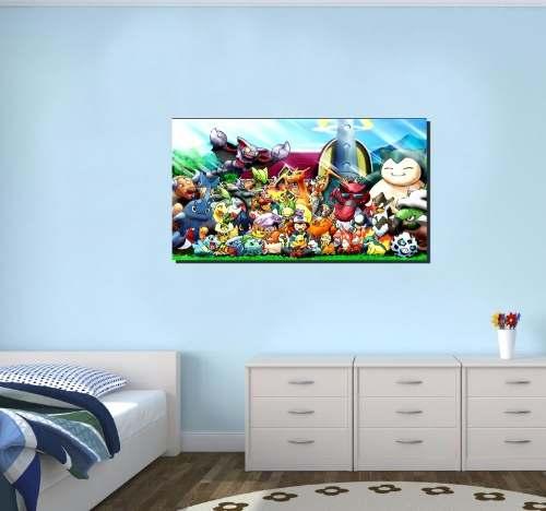 Quadro Decorativo Pokemon Para Quarto Infantil