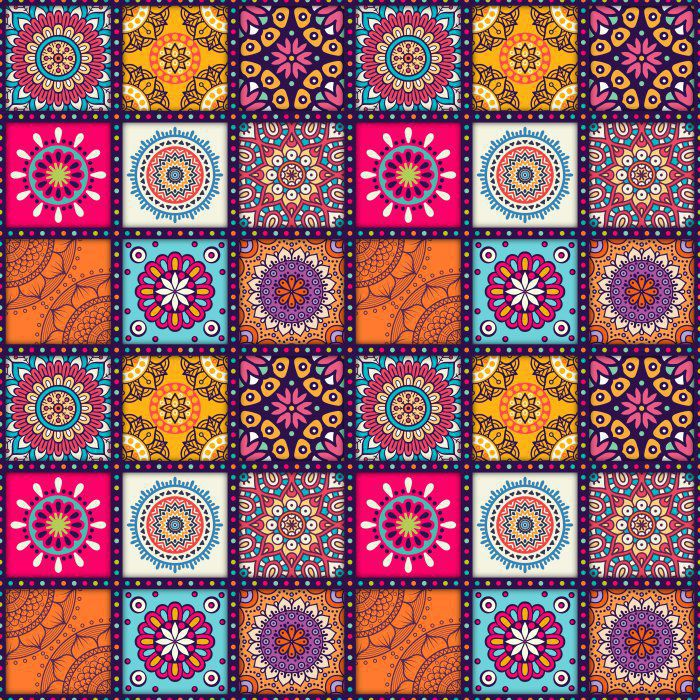 Adesivo Decorativo Estilo Mandala Colorida