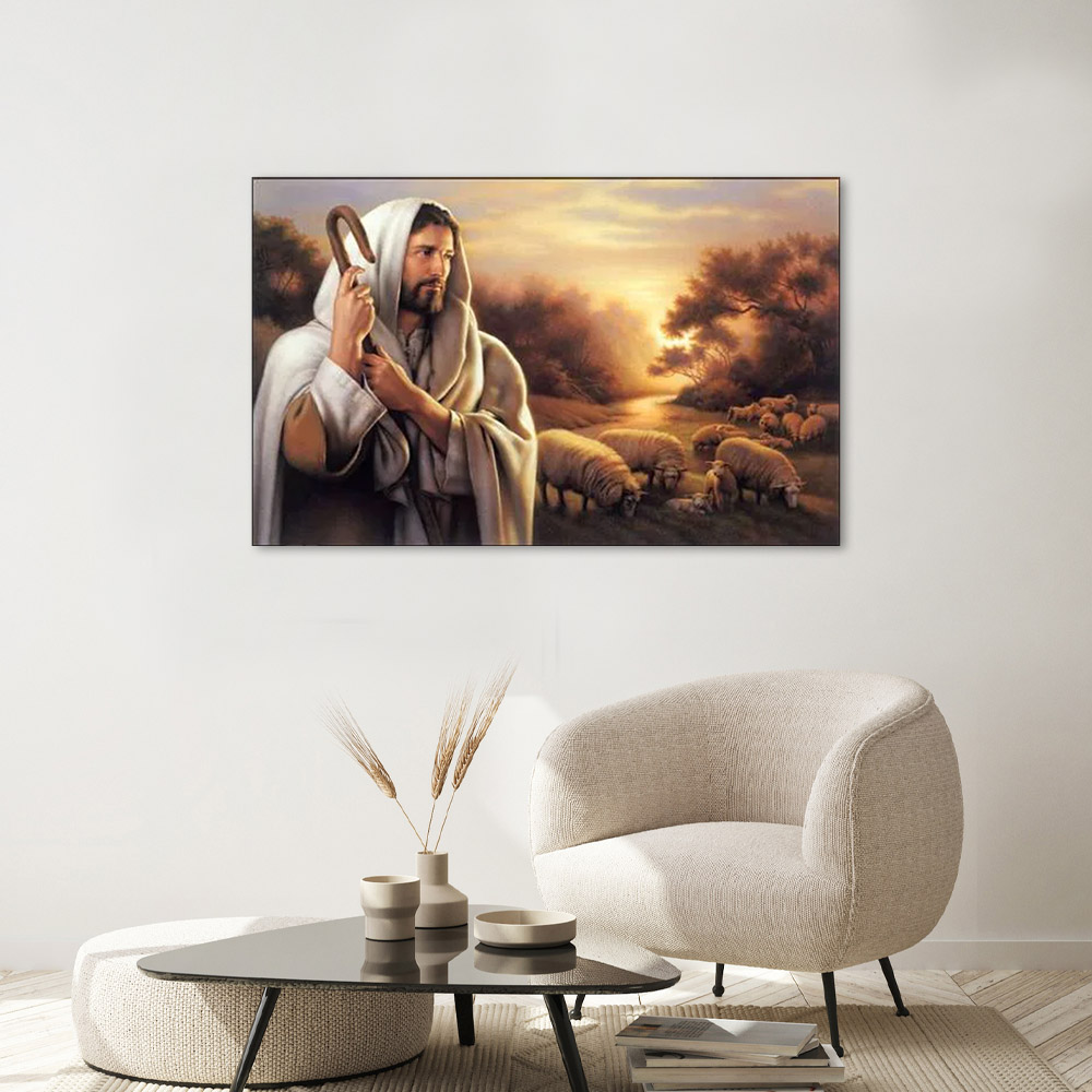Adesivo Decorativo Parede Jesus Cristo O Bom Pastor