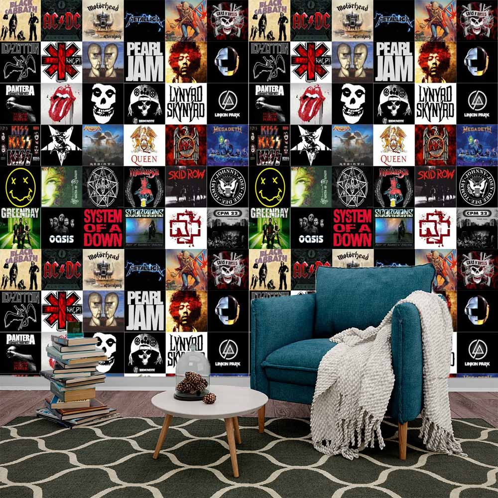 Adesivos de Azulejos Bandas Rock