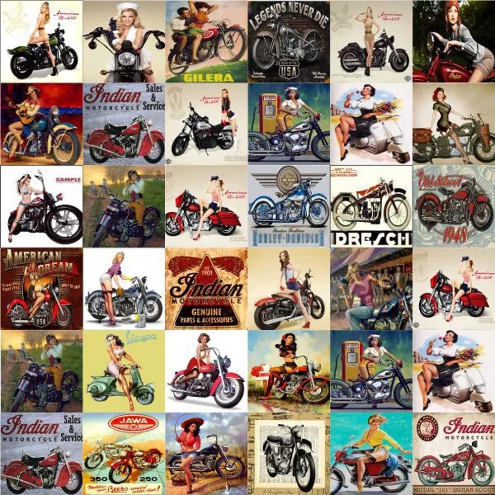 Azulejos Hidráulico Motos Vintage