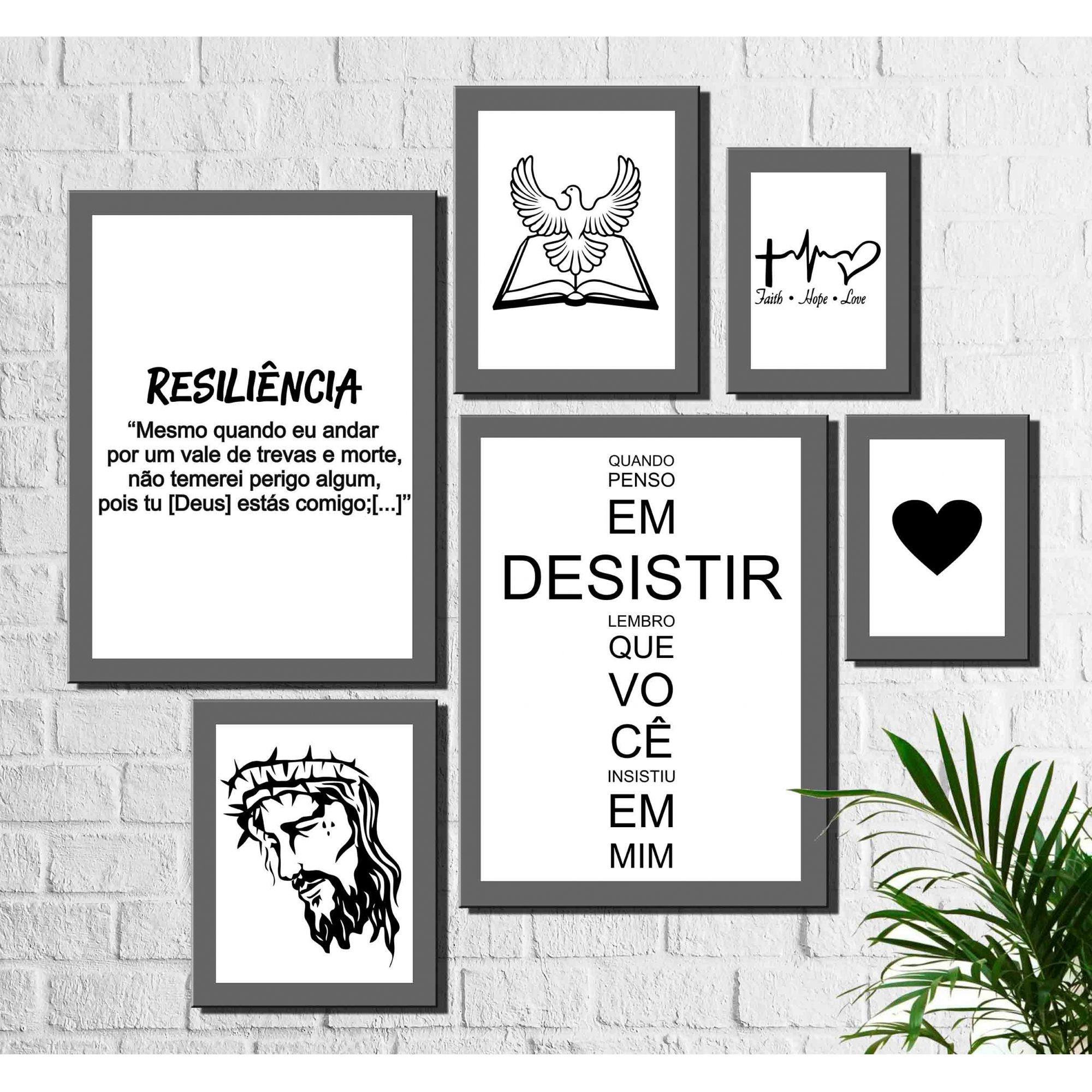 6 Peças Quadros Decorativos Adesivos E Papel De Parede Arte Quadro