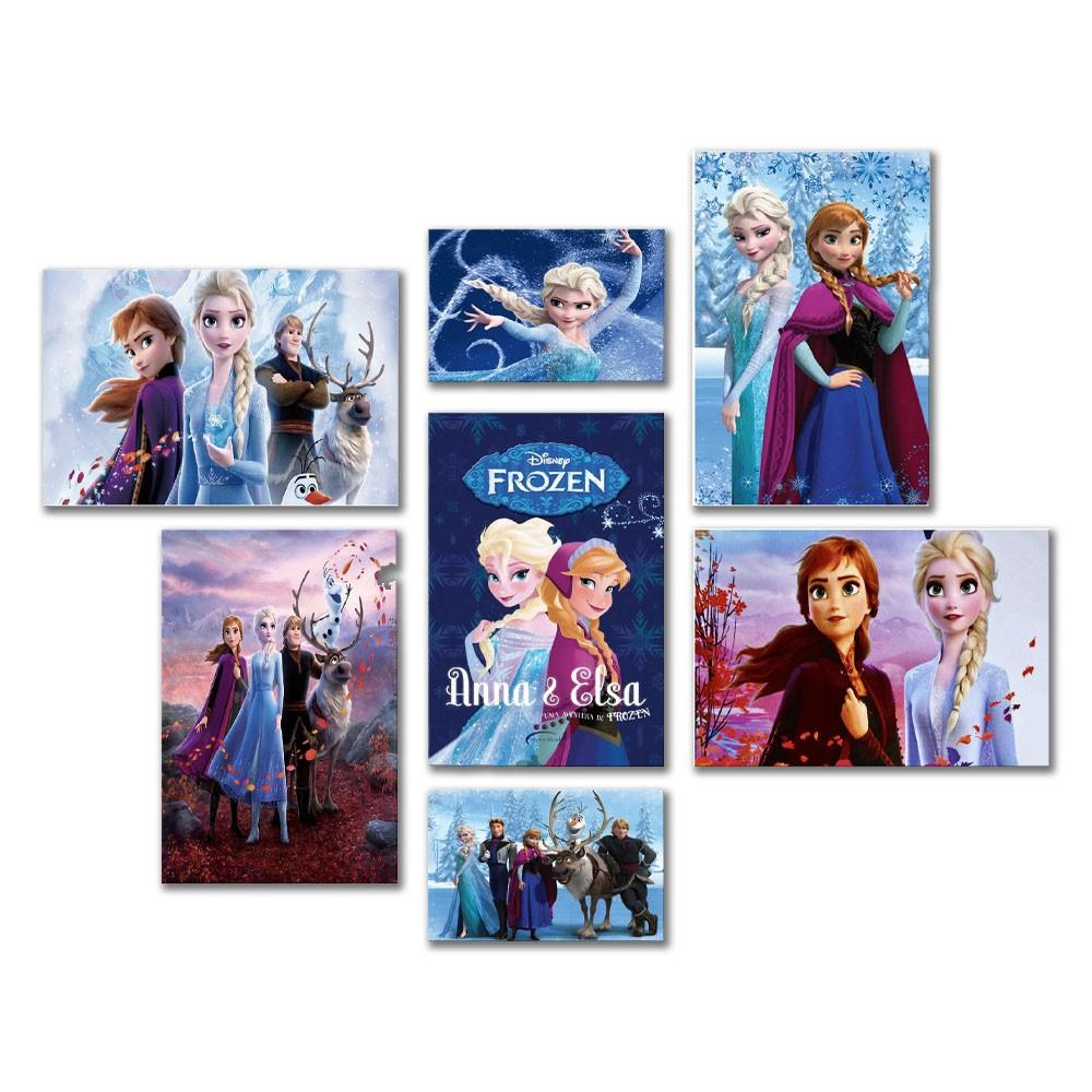 Kit 7 Placa Desenho Frozen  Infantil Parede