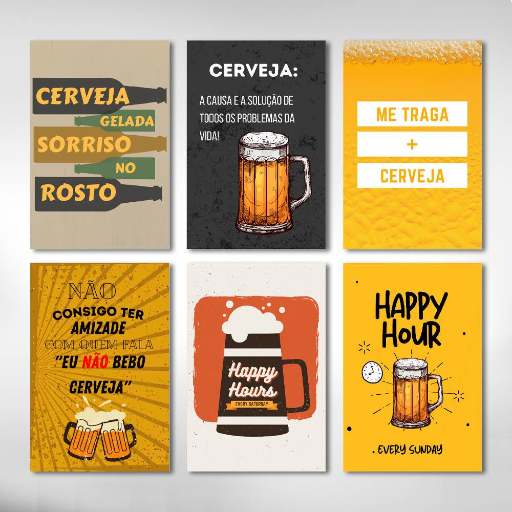 Kit De  Quadros Bebidas Cerveja