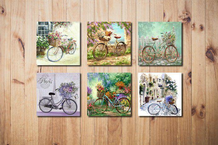Kit quadrinhos de Bicicletas Vintage