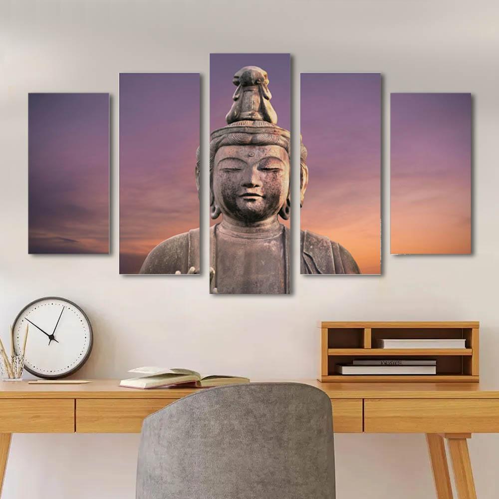 Kit Quadro Decorativo Buda Paz