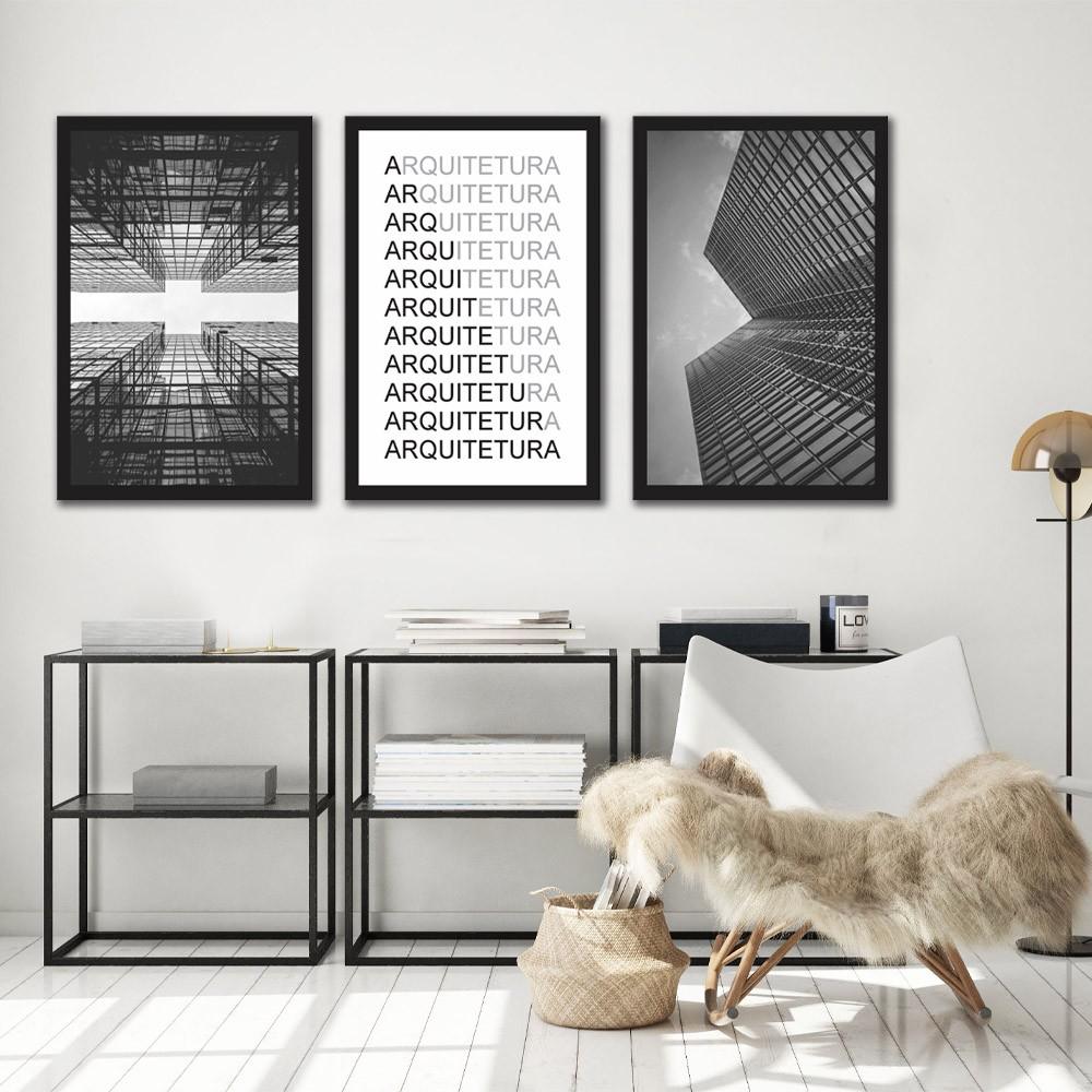 Kit Quadros Decorativos Arquitetura