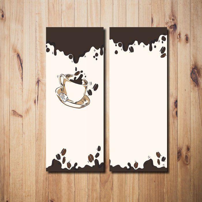 Kit Quadros Decorativos Café 2 peças