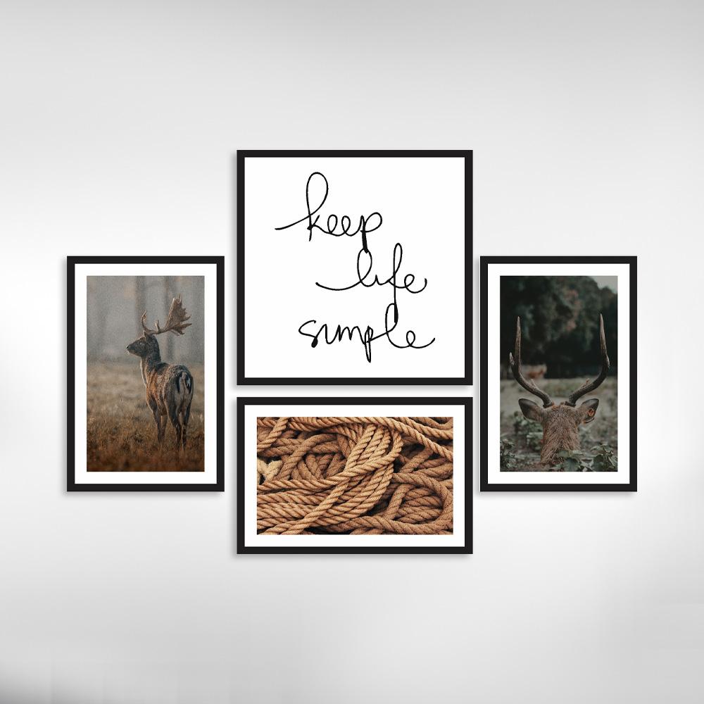 Kit Quadros Decorativos /cervo e frases