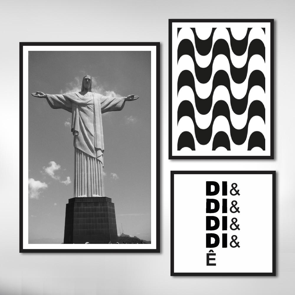 Kit Quadros Decorativos Cristo Rio De Janeiro