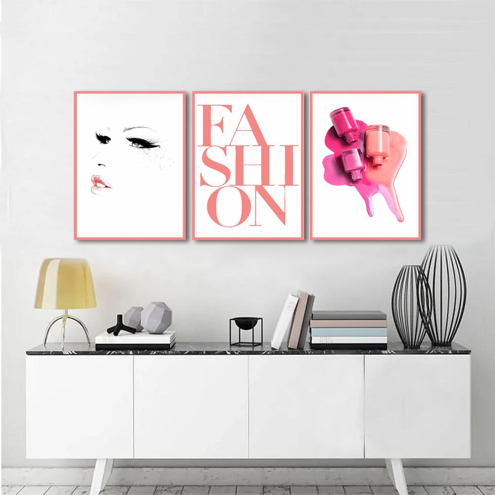 Kit Quadros Decorativos Fashon Moda Maquiagem