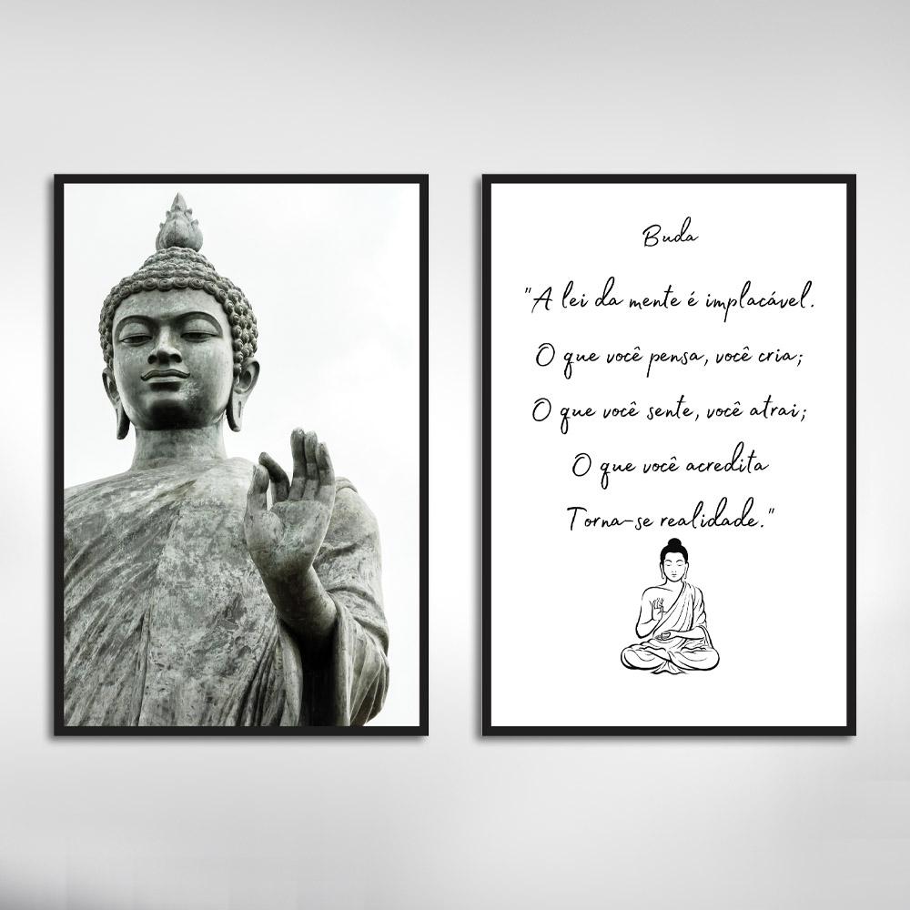 Kit Quadros Decorativos Frases Buda