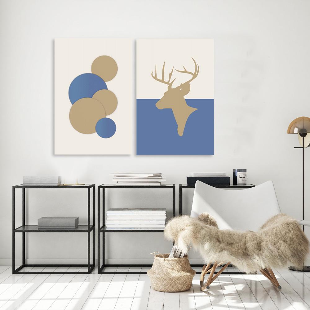 Kit Quadros Decorativos Geometricos Alce