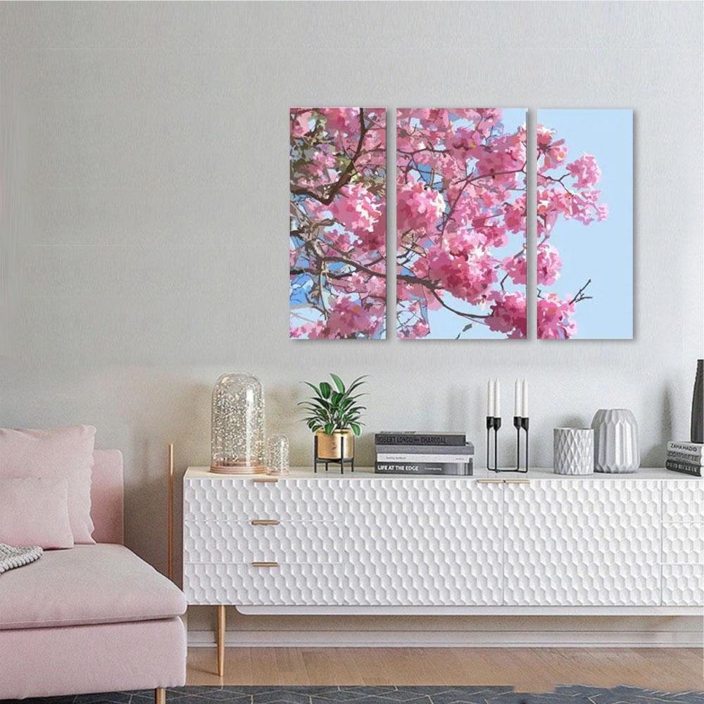 KIt Quadros Decorativos Ipê Rosa