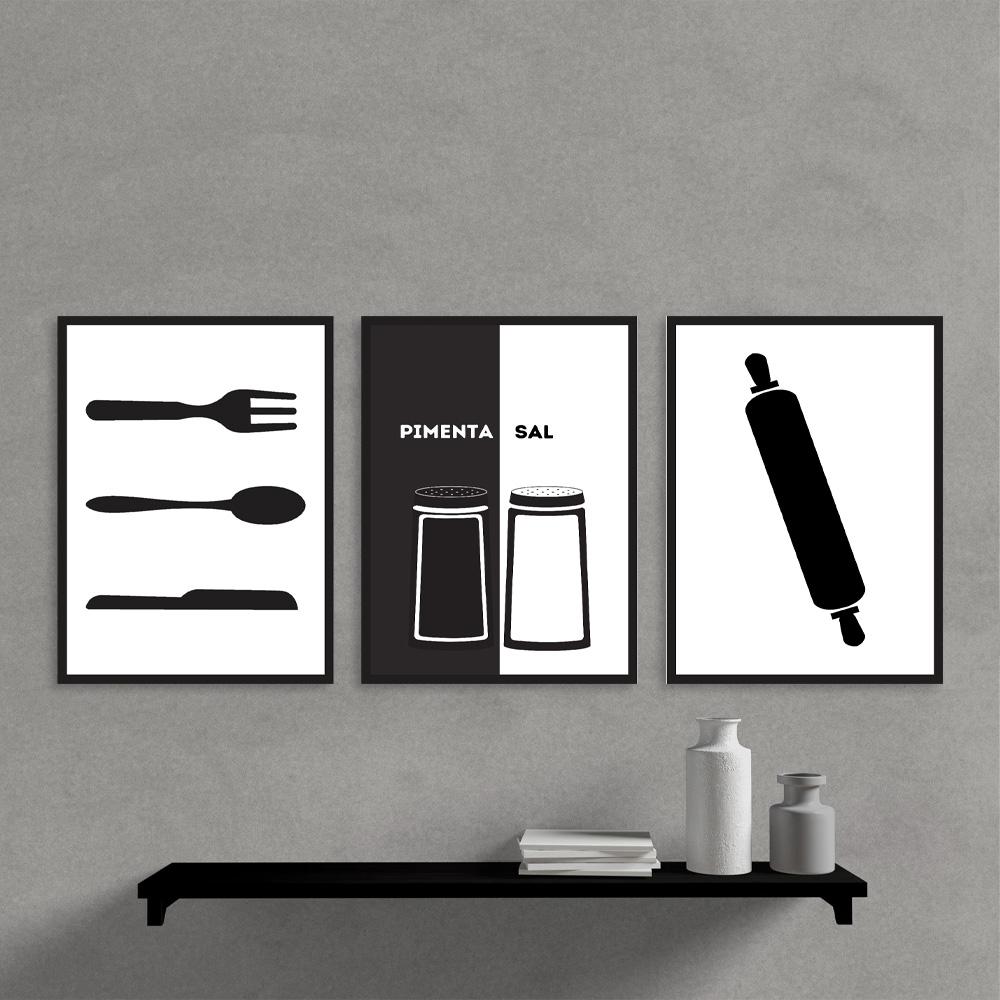 Kit Quadros Decorativos Kit Cozinha