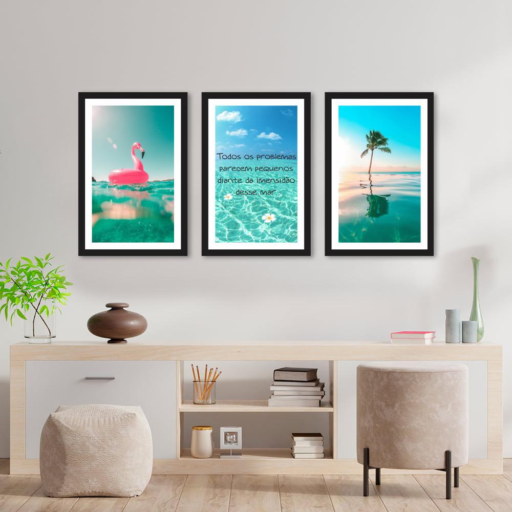 Kit Quadros Decorativos Mar Frases