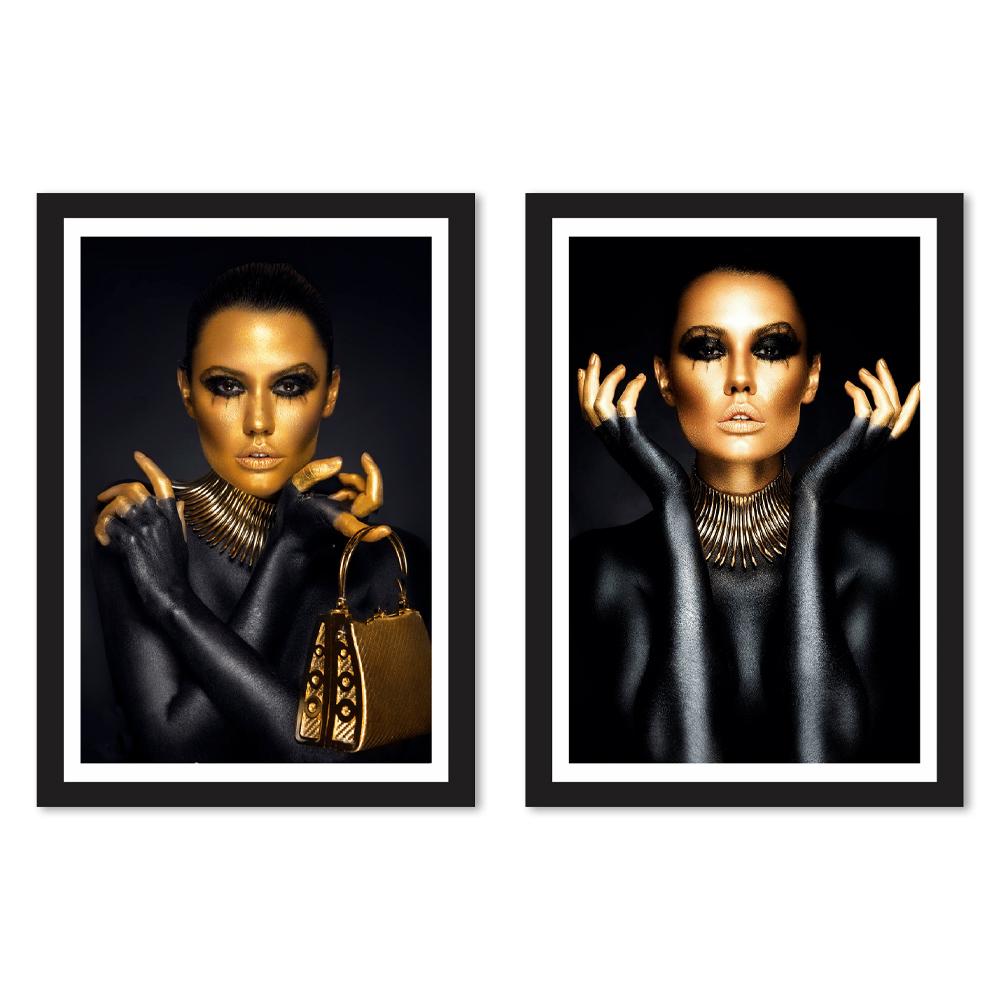 Kit Quadros Decorativos Mulheres Gold