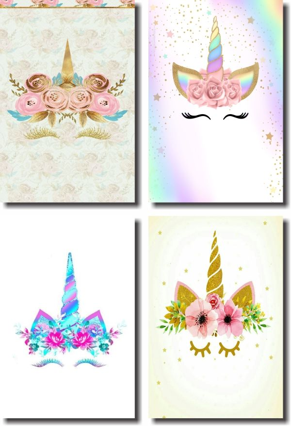 Kit Quadros Decorativos Para Quarto De Unicórnio