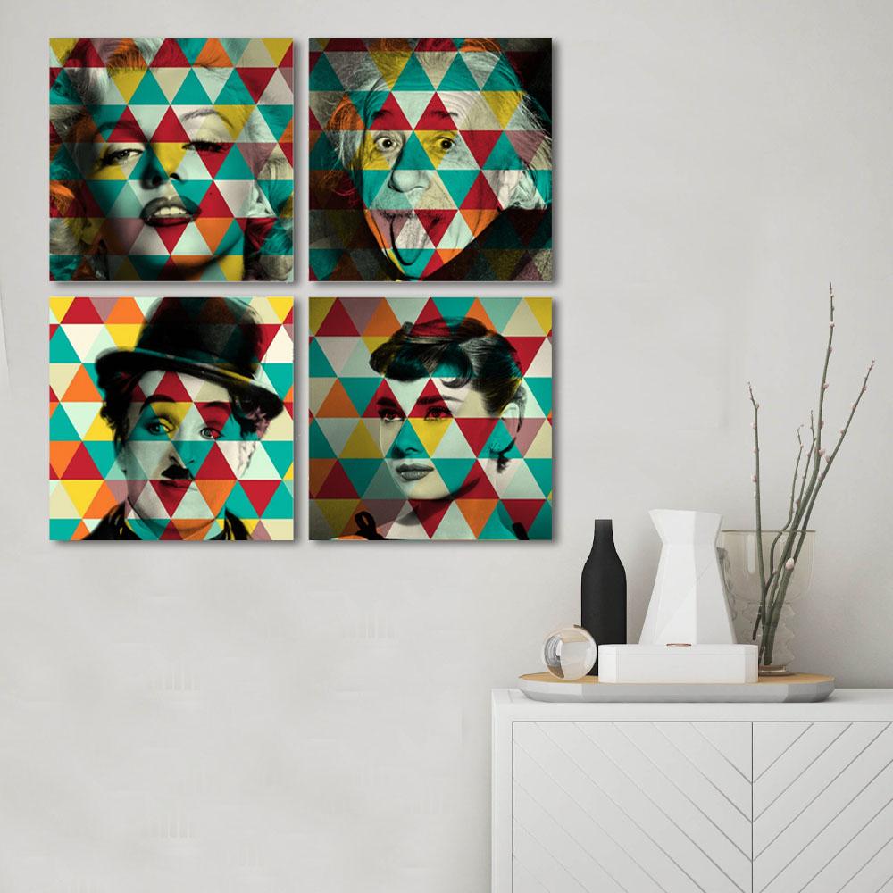 Kit Quadros Decorativos Personalidades Famosas