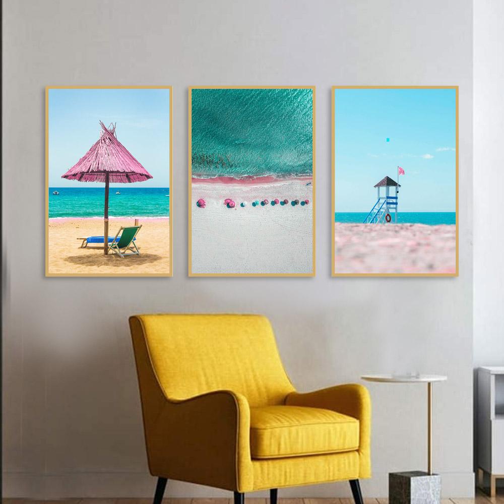 Kit Quadros Decorativos Praia Rose