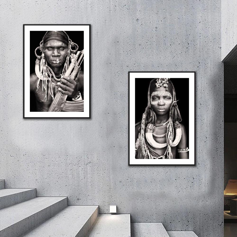 Kit Quadros Decorativos Tribo Africana