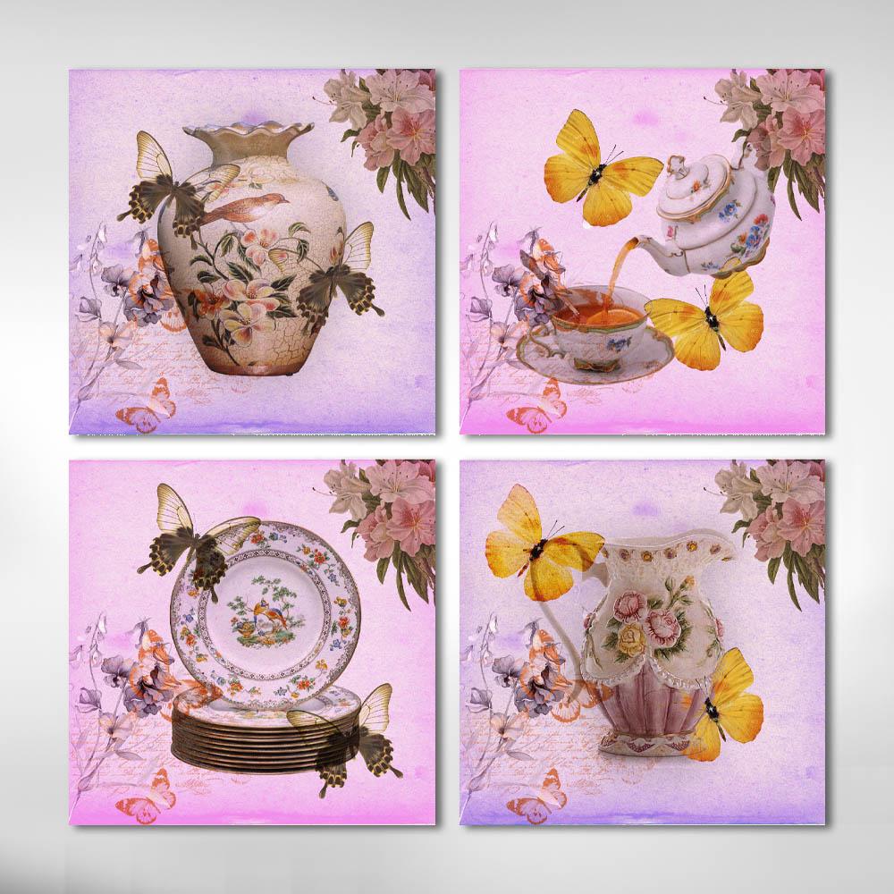 Kit quadros Decorativos Vintage Porcelana