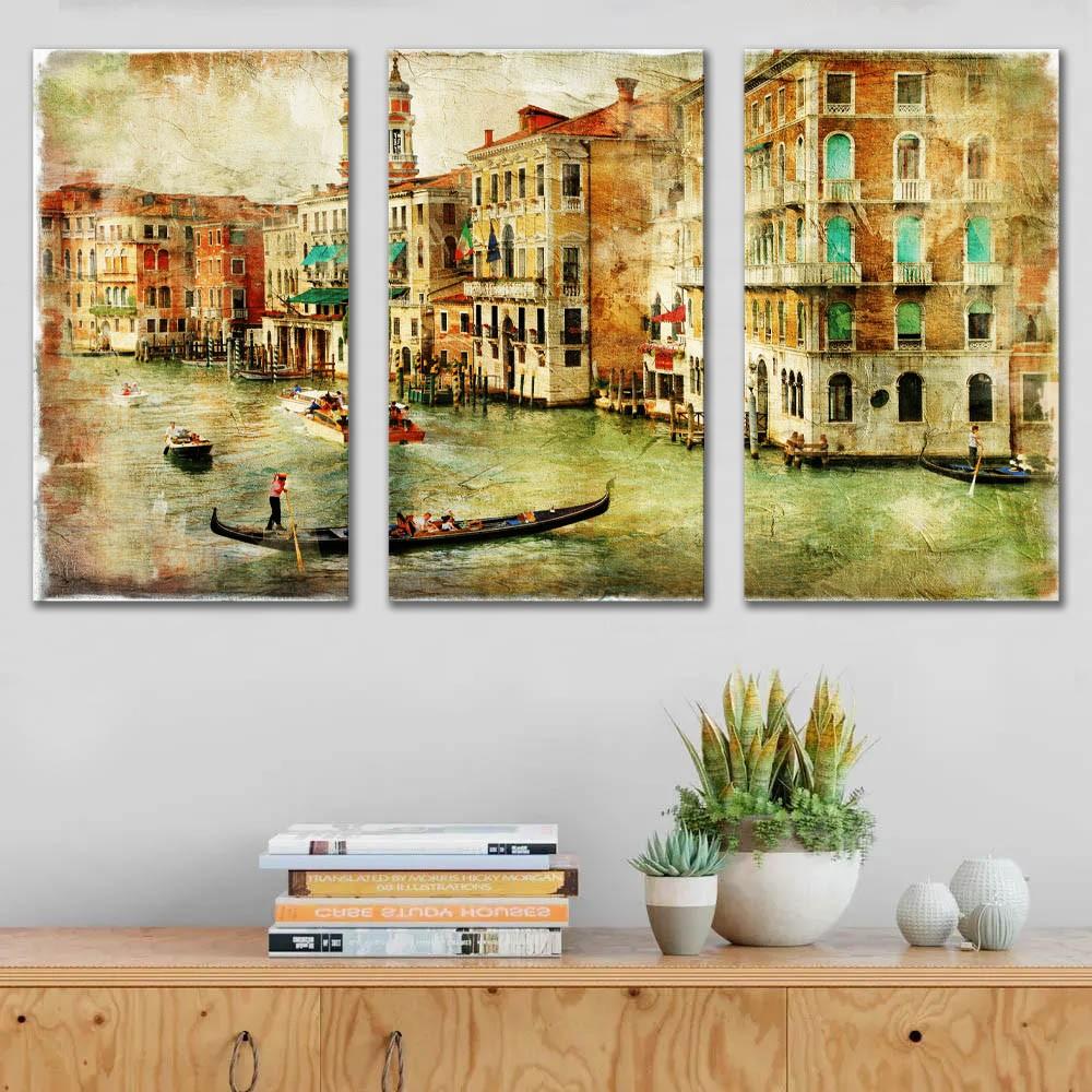Kit Quadros Decorativos Vintage Veneza