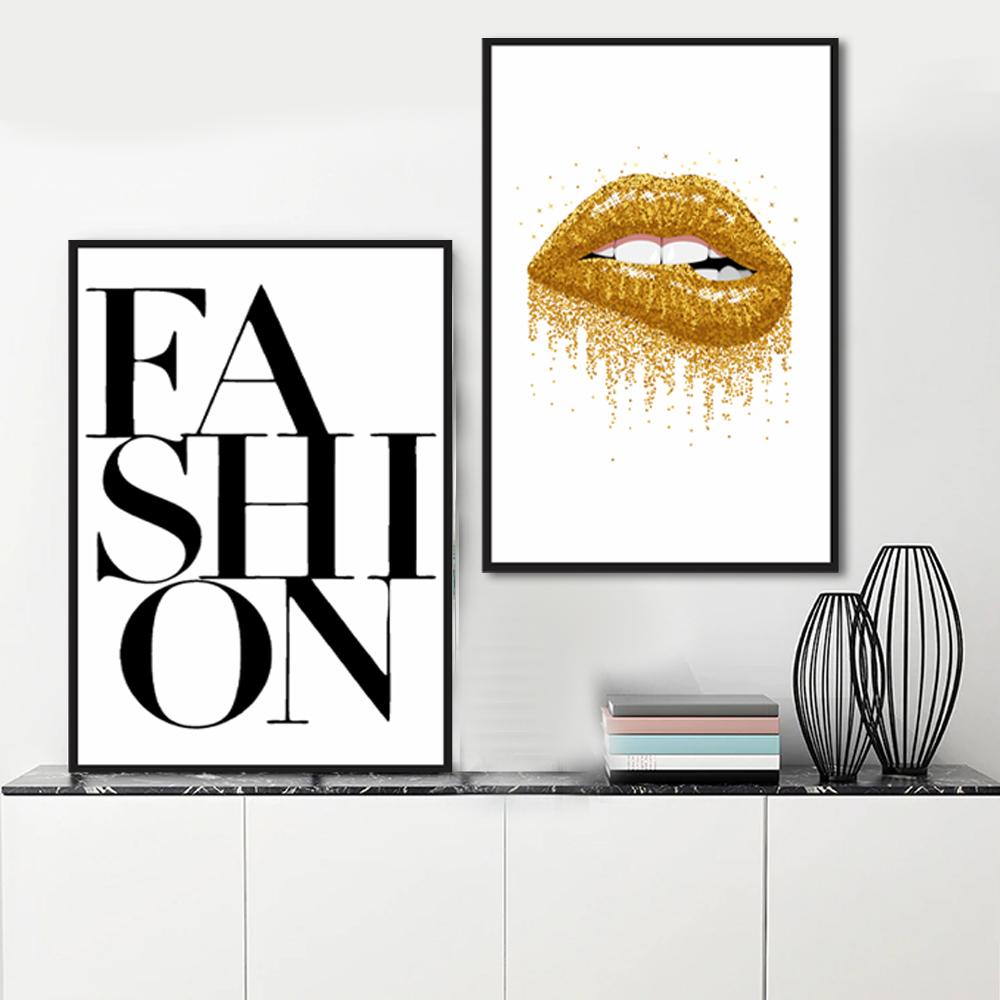 Kit Quadros Descorativos Moda Fashon Maquiage