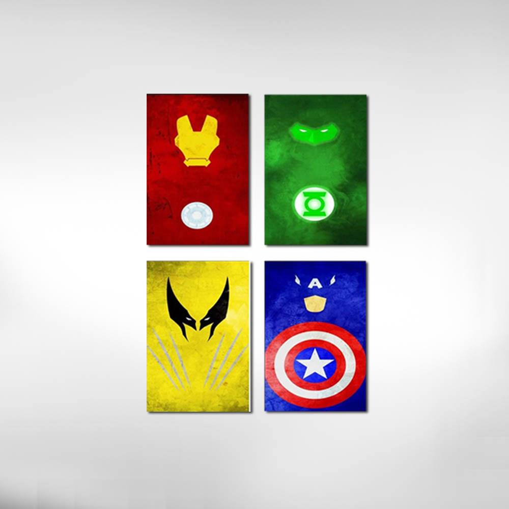 Kit Quadros Super Heroes M2