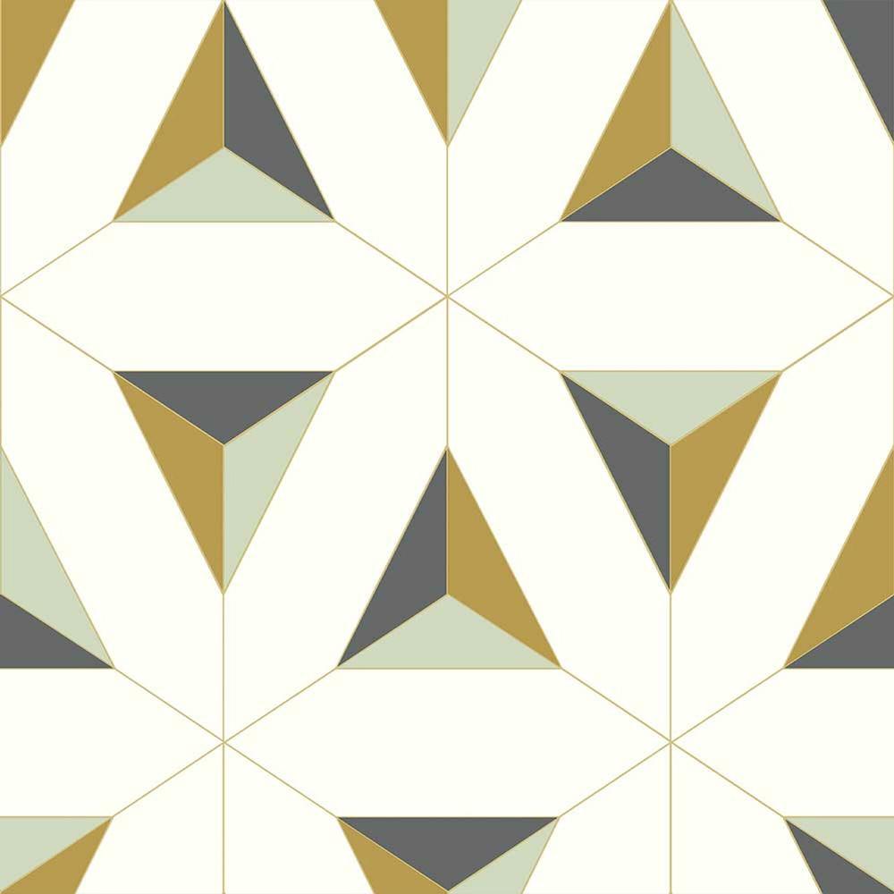 Papel de Parede Geométrico Amarelo