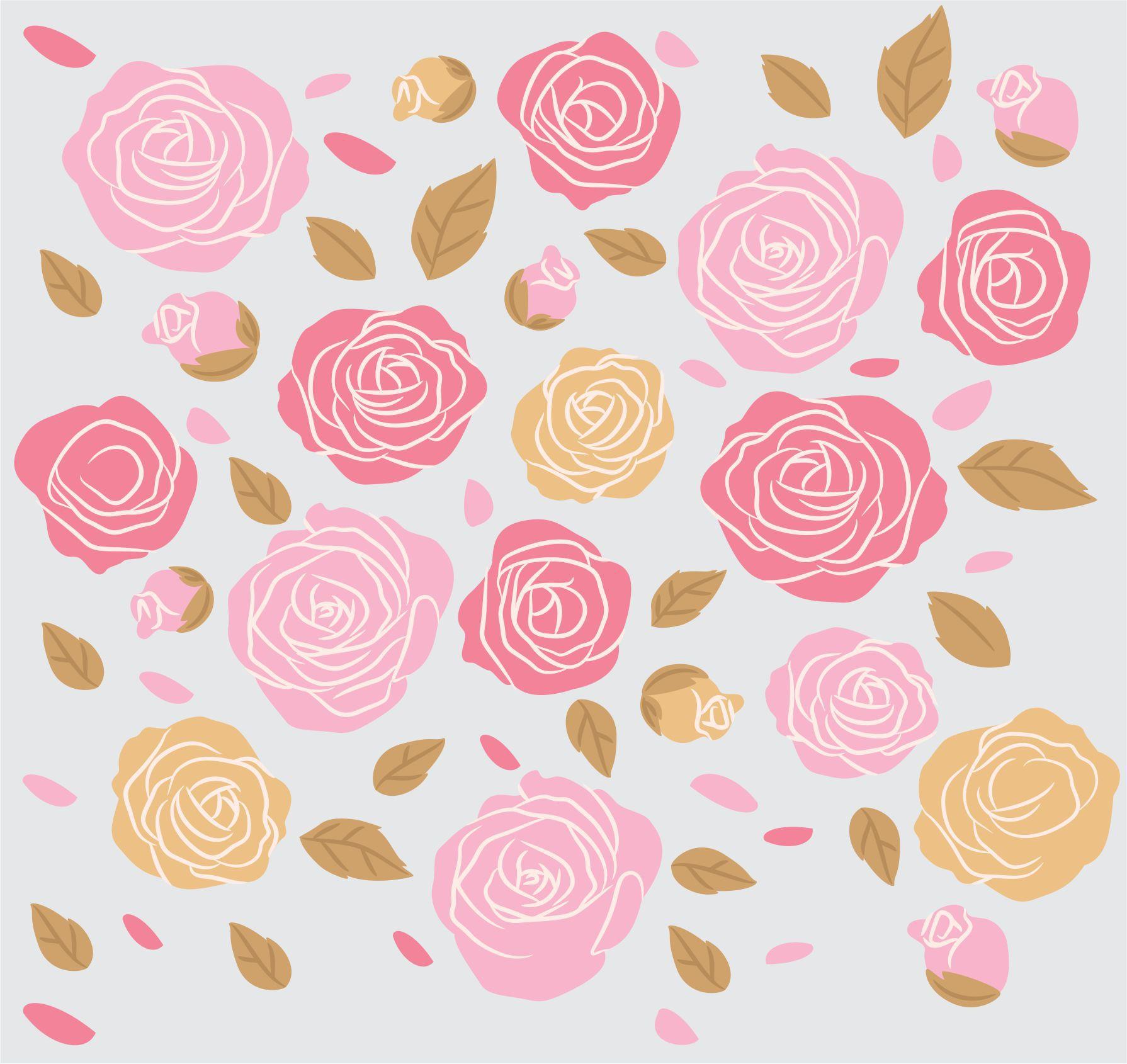 Papel de parede Fores Rosas