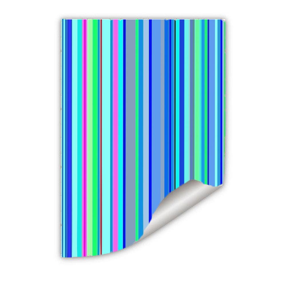 Papel Parede  Adesivo Listras Azuis