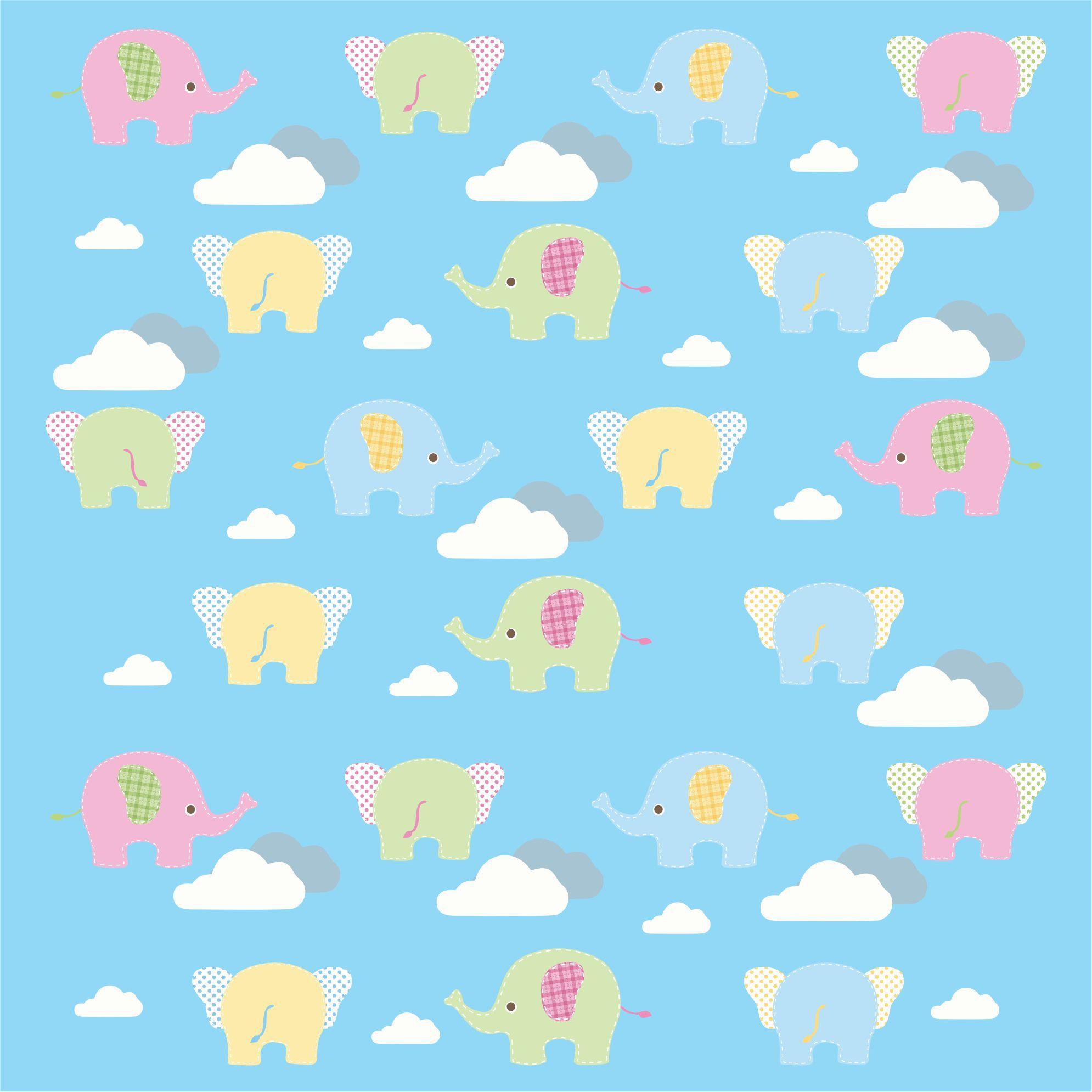 Papel Parede Elefante Rolo De 0,60 x 3,00