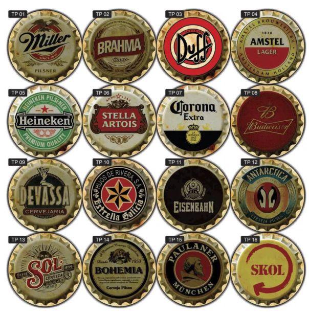 Placas Decorativas Cervejas Bebidas Vintage Bar Retrô 41x41