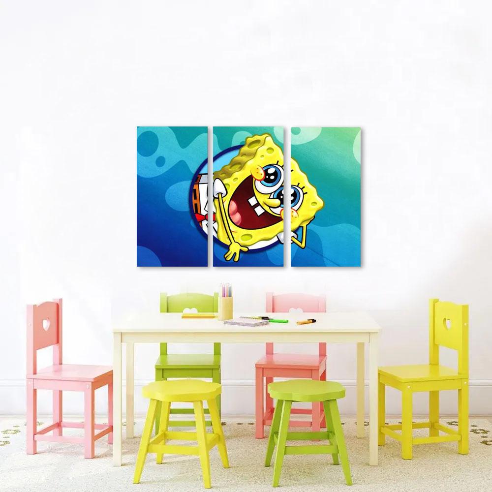 Quadro Bob Esponja  Infantil  decorativo