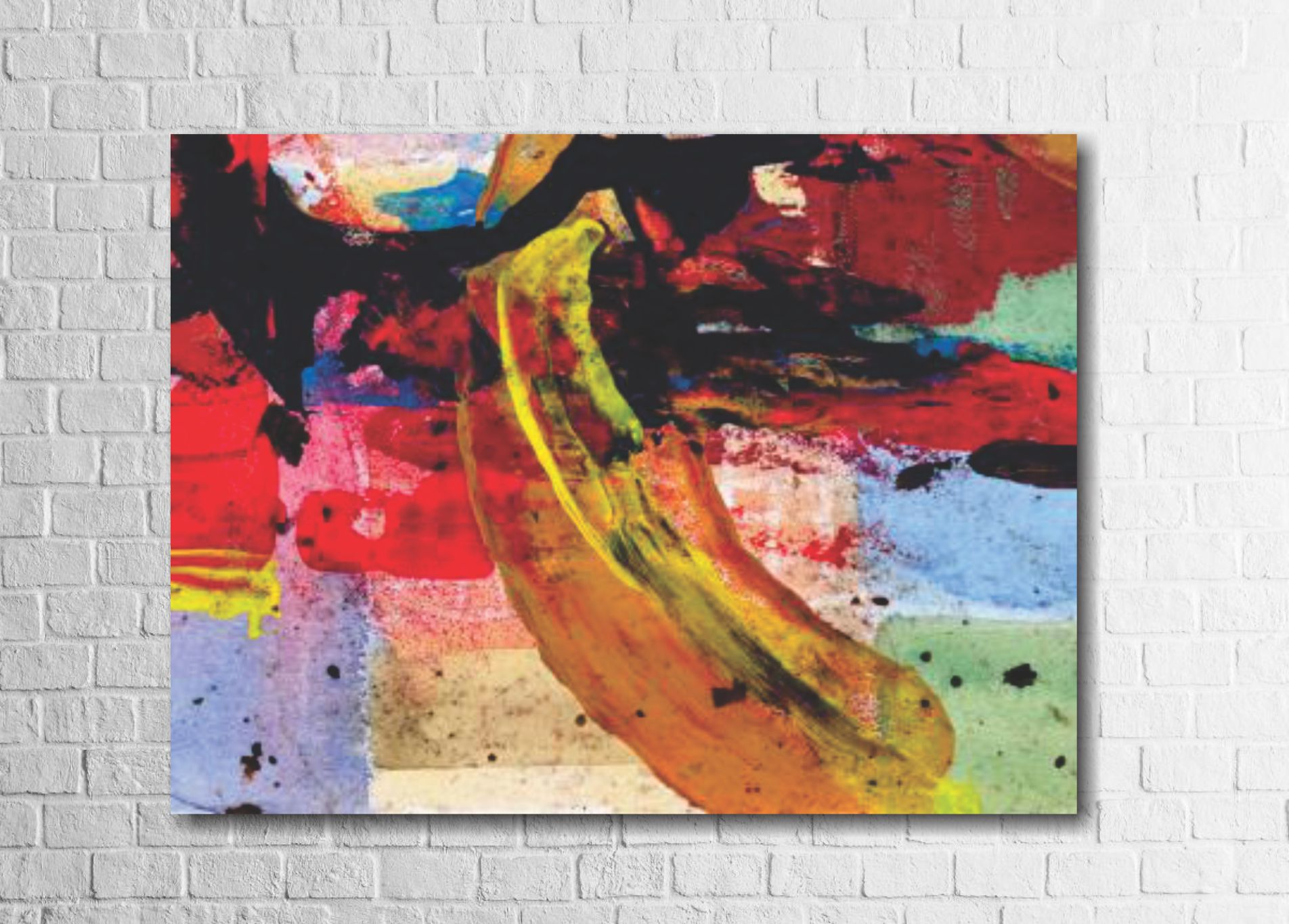 Quadro Decorativo Abstrato Colorido 1 peça
