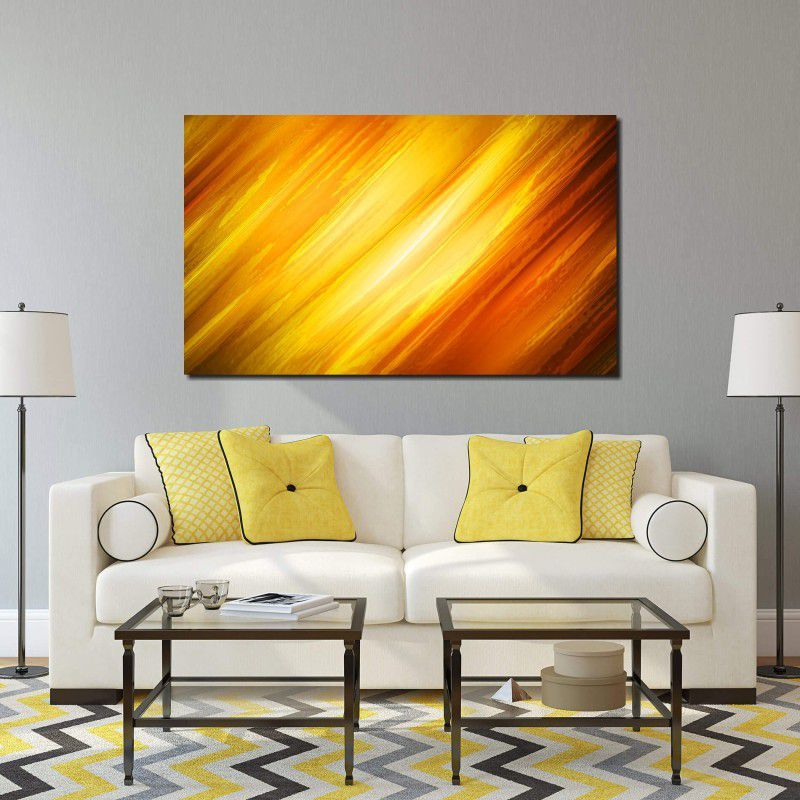 Quadro Decorativo Abstrato Cores Amarelas 1 peças