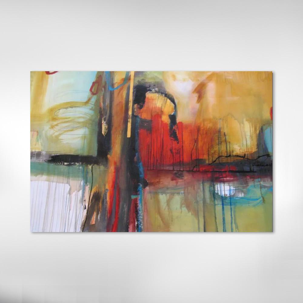 Quadro Decorativo Abstrato Moderno Colordo