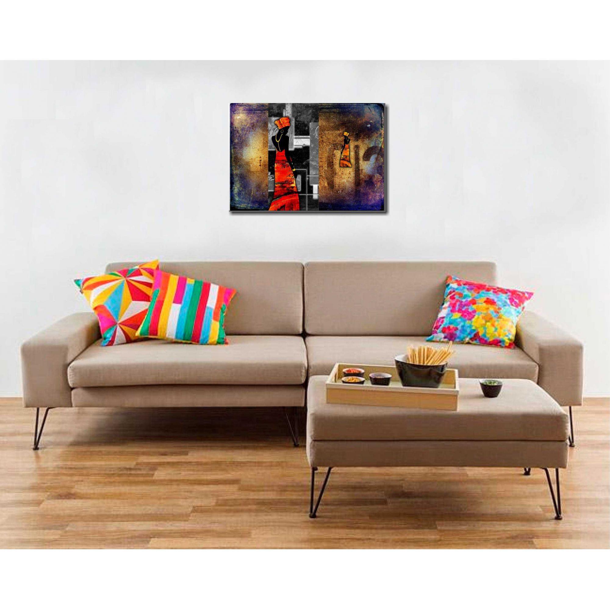 Quadro Decorativo Africana 70x100 Para Sala E Quarto