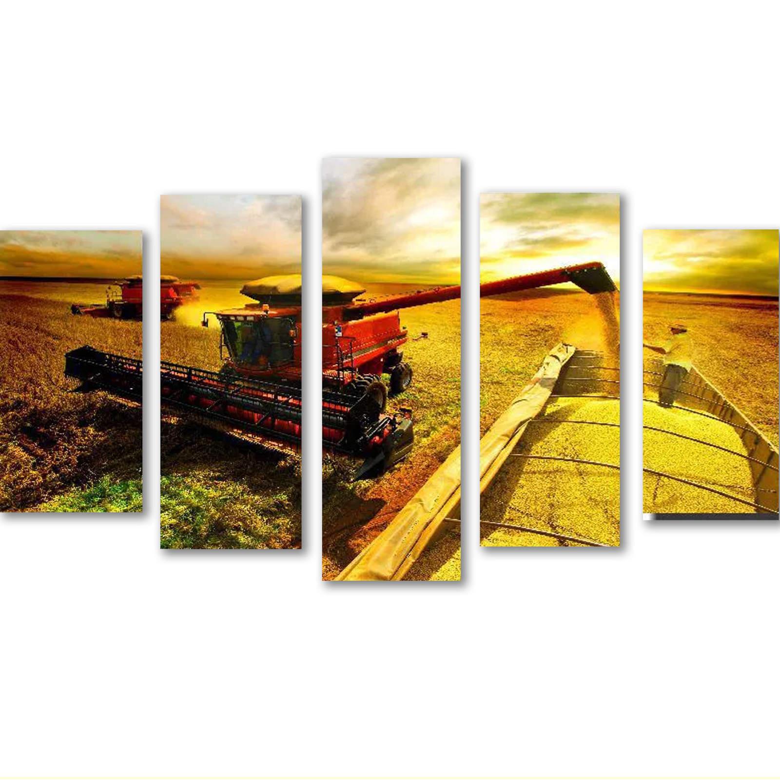 Quadro Decorativo Agricultura Colheitadeira Ceifadeira Varias Peças